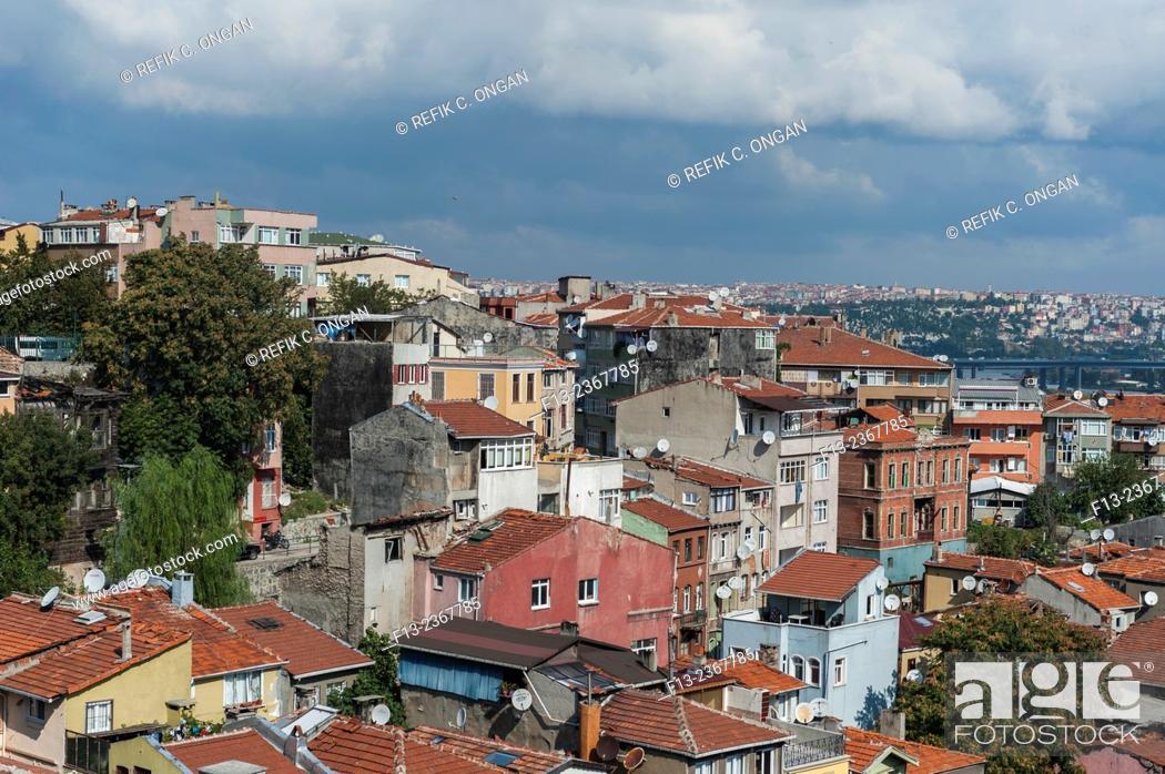 Stock Photo: Istanbul cityscape main district in Taksim area.