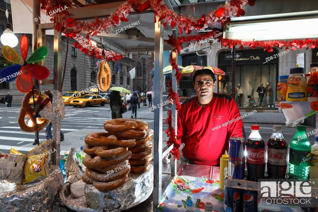 Stock Photo: street food in 5th avenue.