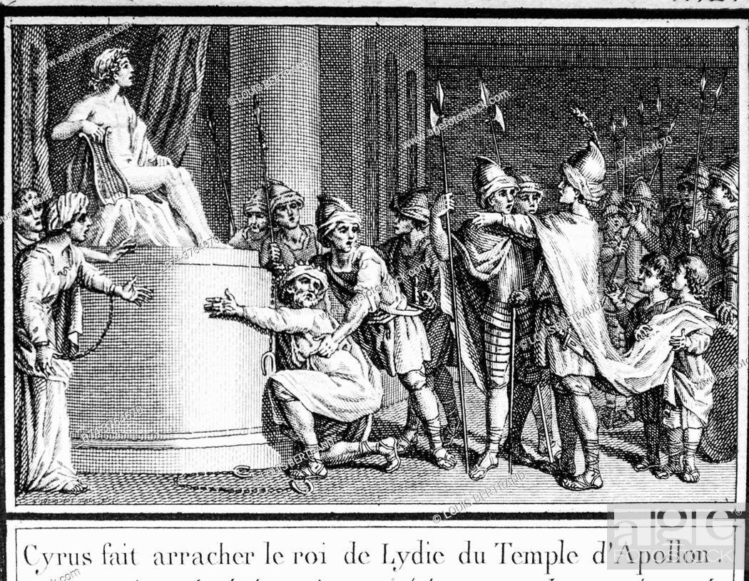 Photo de stock: Lydian mythology, abbreviated editor of universal history 1850.