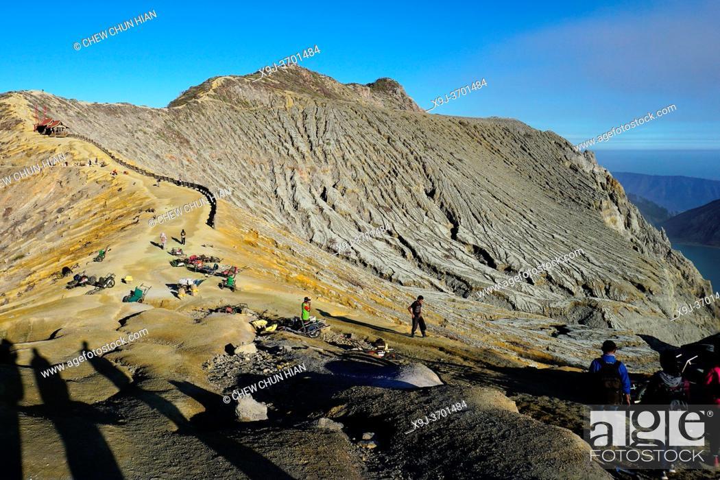 Stock Photo: Kawah ijen volcano, Bandung, Indonesia.