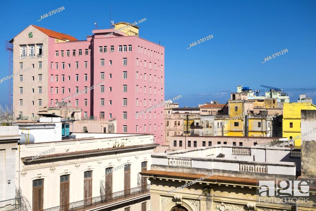 Stock Photo: Houses and environment in Havana, Cuba.
