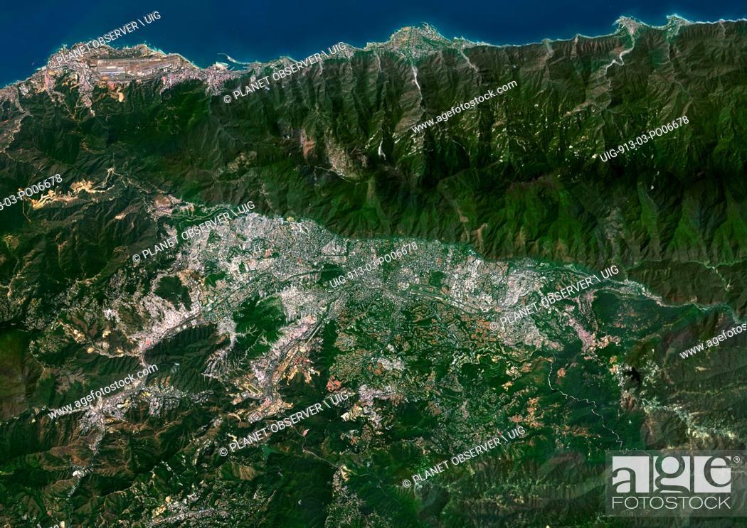 Imagen: Colour satellite image of Caracas, Venezuela. Image taken on January 21, 2014 with Landsat 8 data.