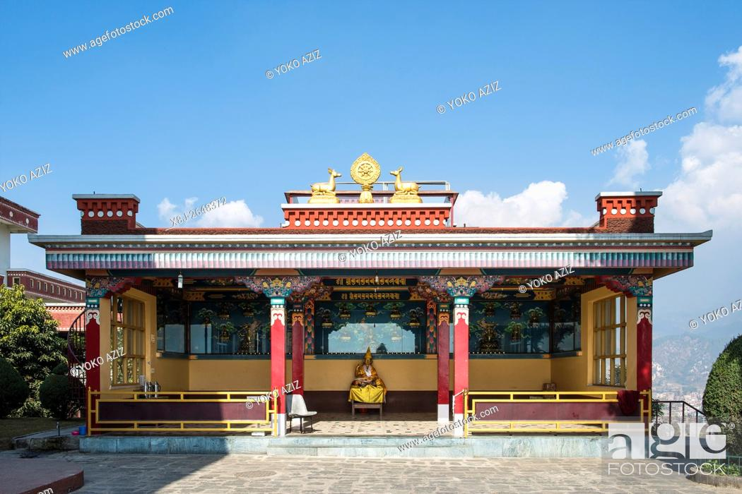 Stock Photo: Nepal, Kopan monastery.