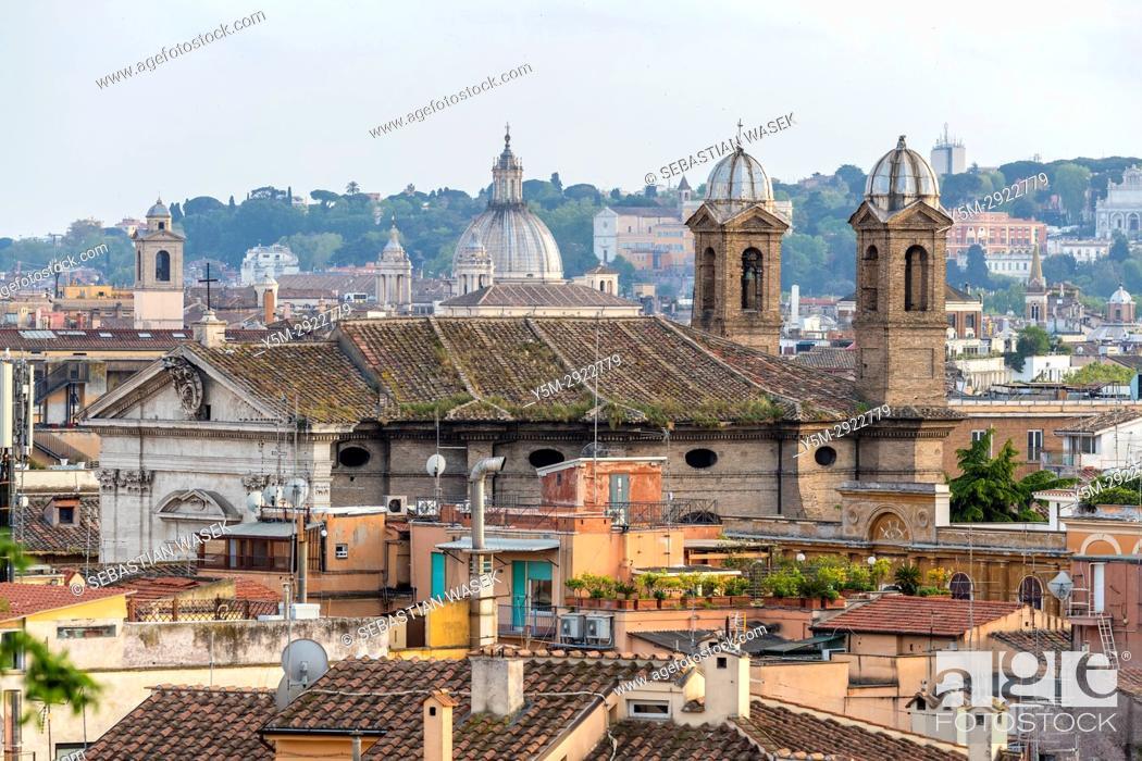 Rome Seen From Terrazza Del Pincio Lazio Italy Europe