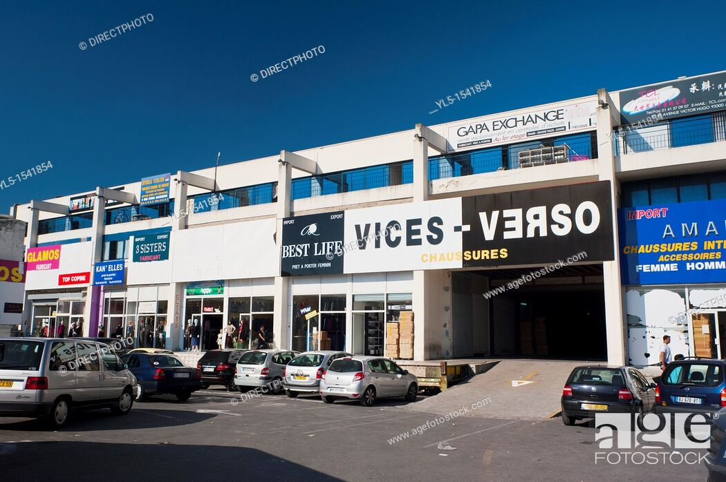 Stock Photo: Aubervilliers, France, Chinese Wholesale Shopping Center,.