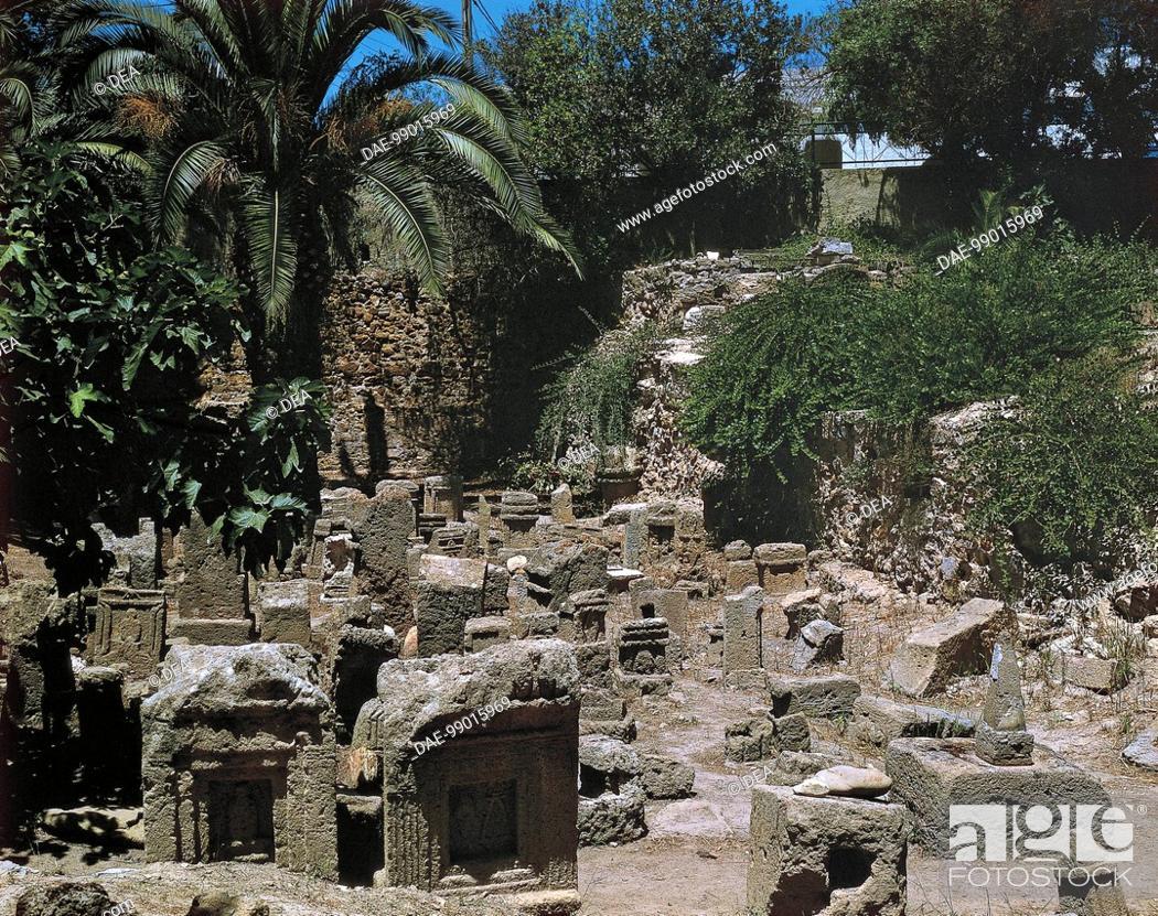 Stock Photo: Tunisia - Surroundings of Tunis. Tophet (sanctuary) of Baal Hammon and Tanit.