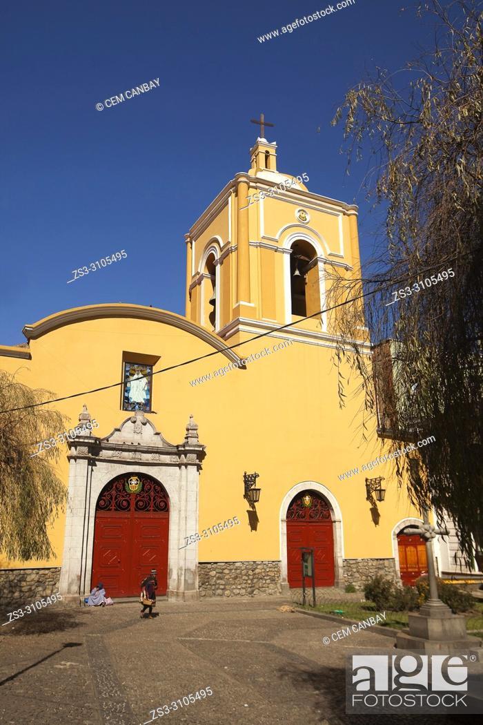 Stock Photo: View to the Templo De La Merced- La Merced Church at the historic center, La Paz, Bolivia, South America.