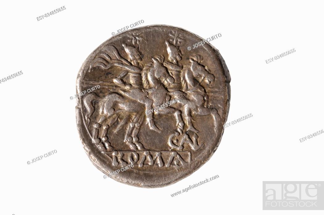 Photo de stock: Original roman coin silver, Denarius.