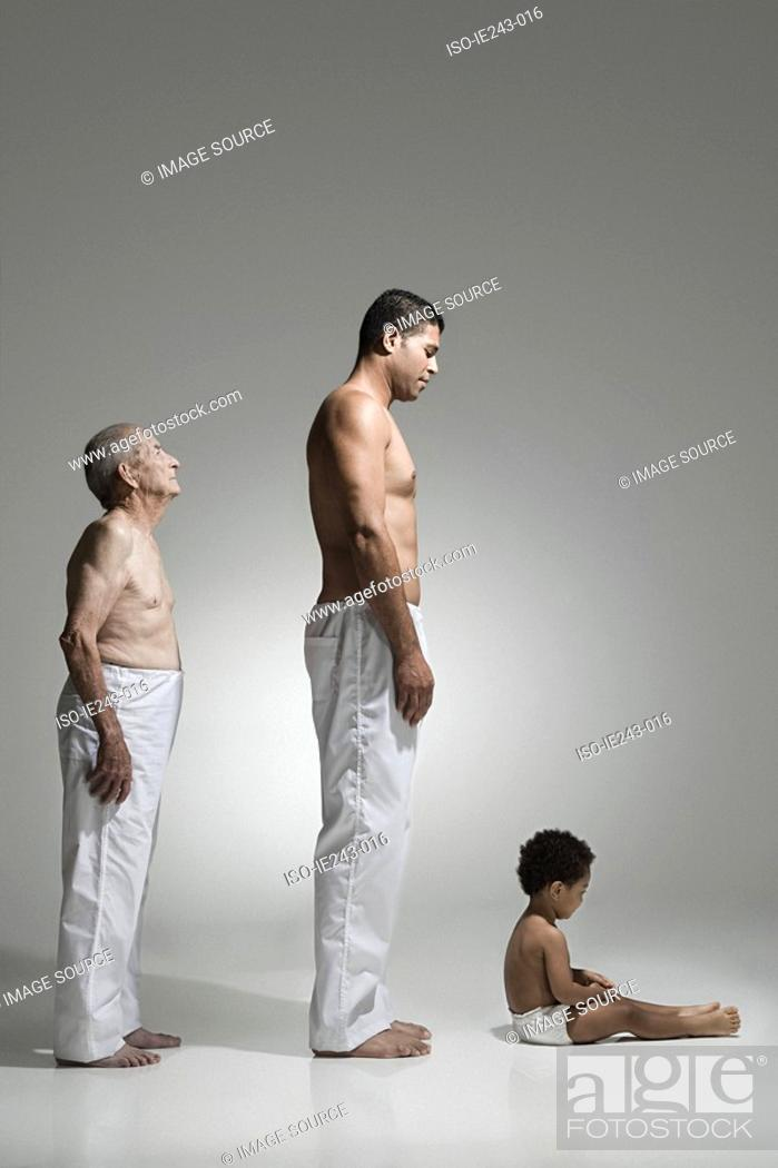 Stock Photo: Three generations of males.