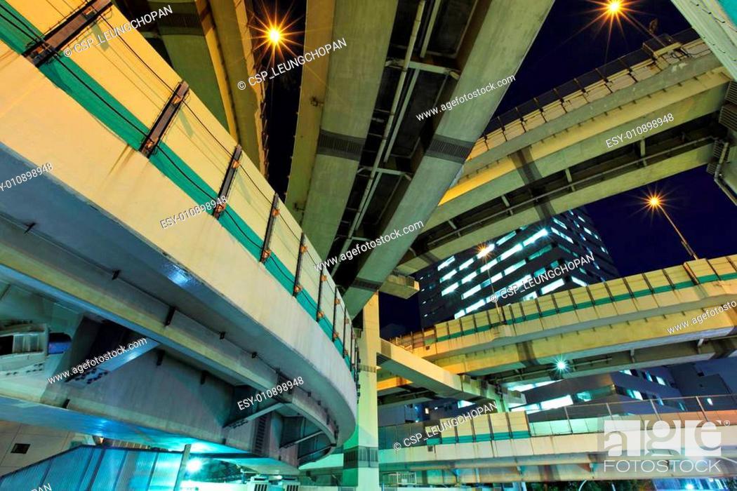 Stock Photo: Expressway in Tokyo.