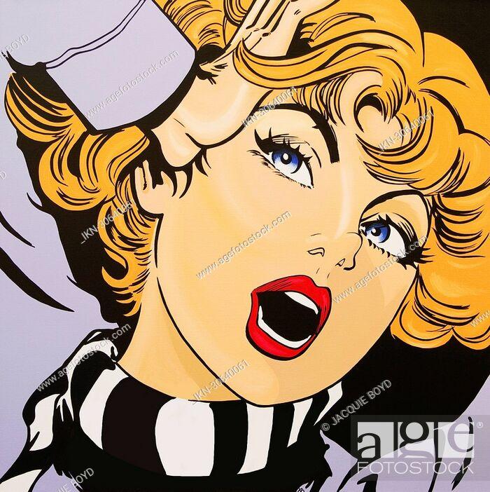 Imagen: Screaming, blonde woman.