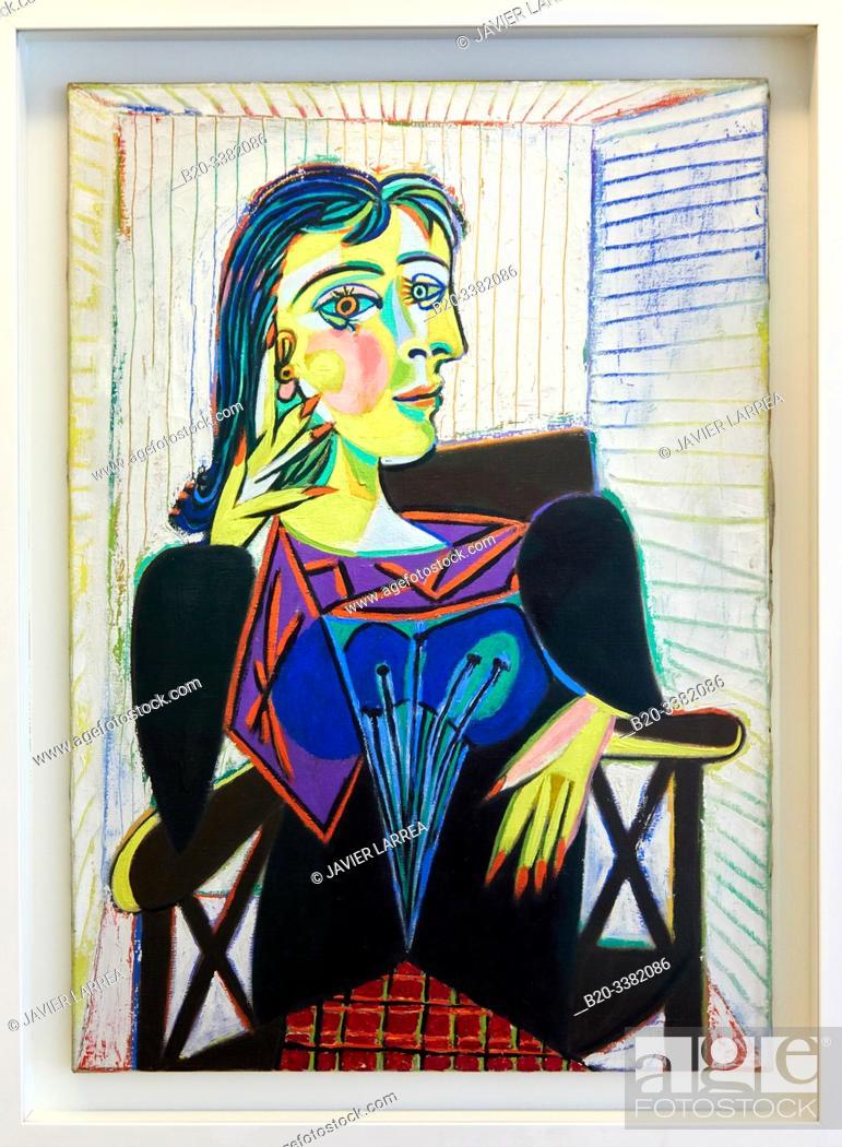 """Stock Photo: """"Portrait de Dora Maar"""", 1937, Pablo Picasso, Picasso Museum, Paris, France, Europe."""