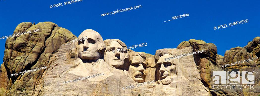 Stock Photo: USA, South Dakota, Mount Rushmore.