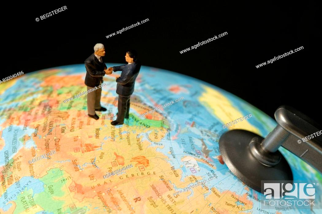 Stock Photo: symbolic for international economic relations.