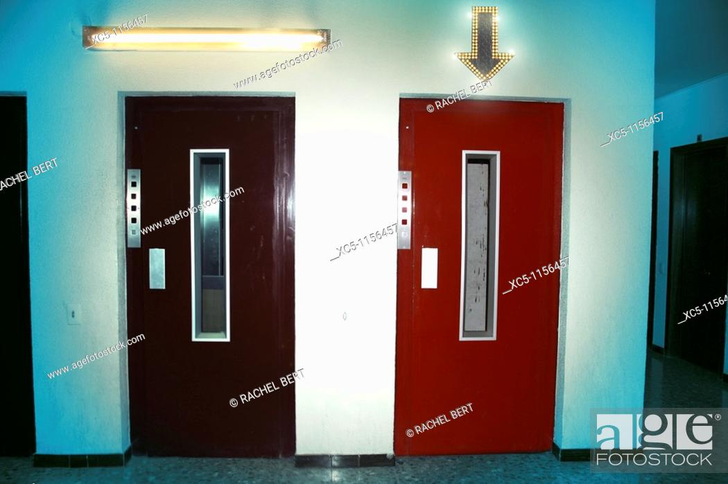 Stock Photo: Choose a lift. Digital compositing.