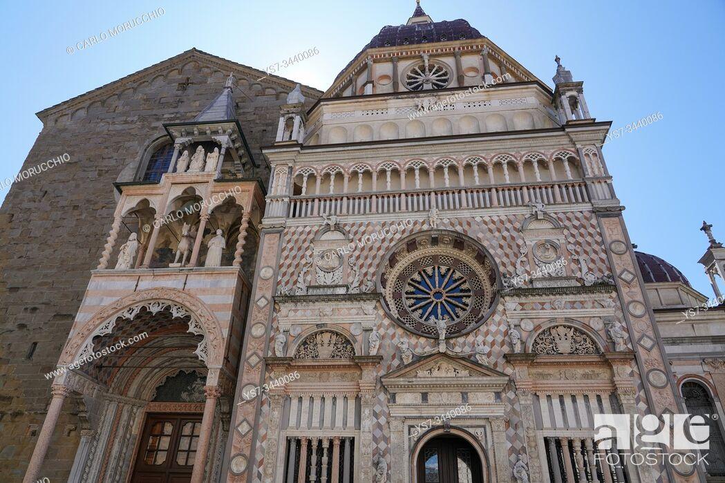 Stock Photo: The Cappella Colleoni, Bergamo, Lombardia, Italy, Europe.