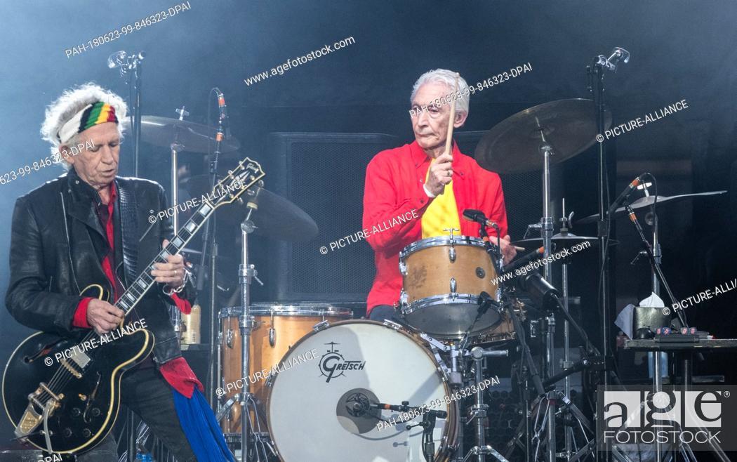 22 June 2018, Germany, Berlin: Rolling Stones guitarist