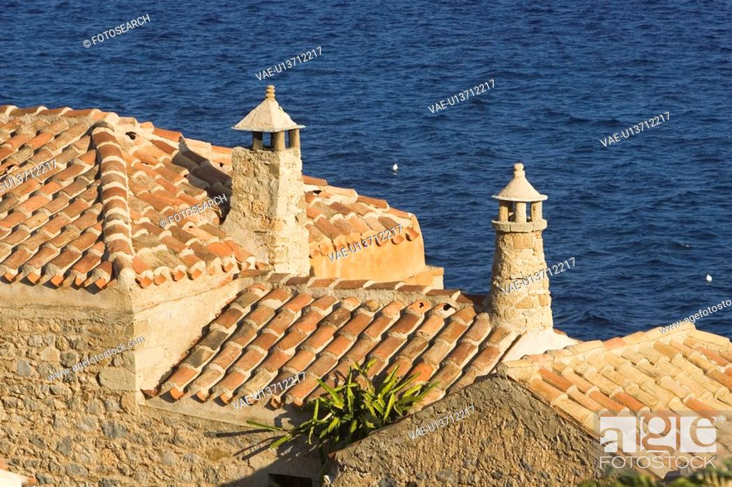 Stock Photo: Blue, Brick, Building Exterior, Building Structure, Chimney, Cliff.