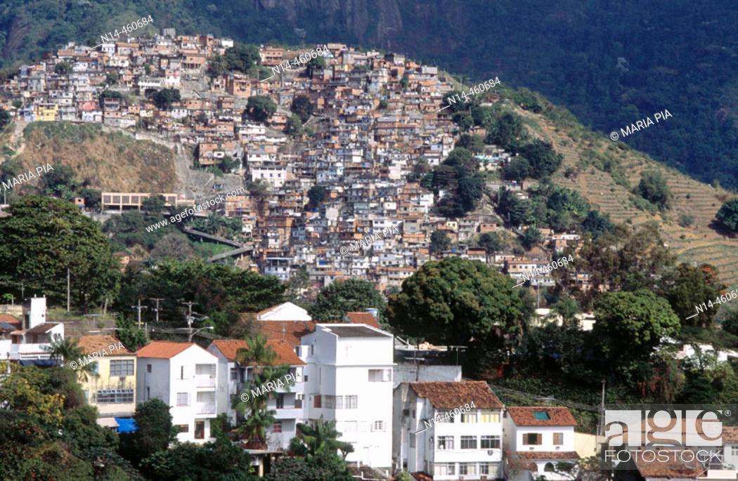 Stock Photo: Favelas, Rio de Janeiro. Brazil, 2005.