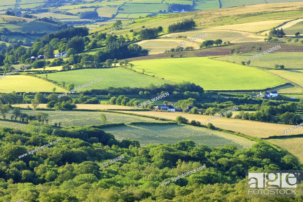 Stock Photo: Fforest Fach Cwm Treweryn Brecon Beacons National Park Sennybridge Powys Wales.
