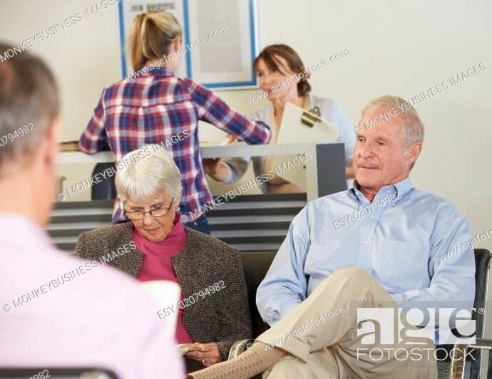 Stock Photo: Patients In Doctor's Waiting Room.