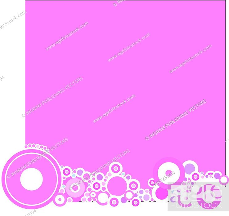 Vector: A magenta based background with a circular theme.