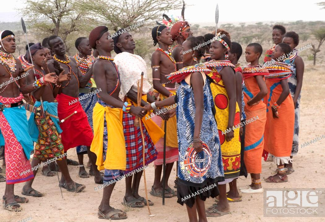 Stock Photo: Samburu tribe. Samburu National Reserve, Kenya.