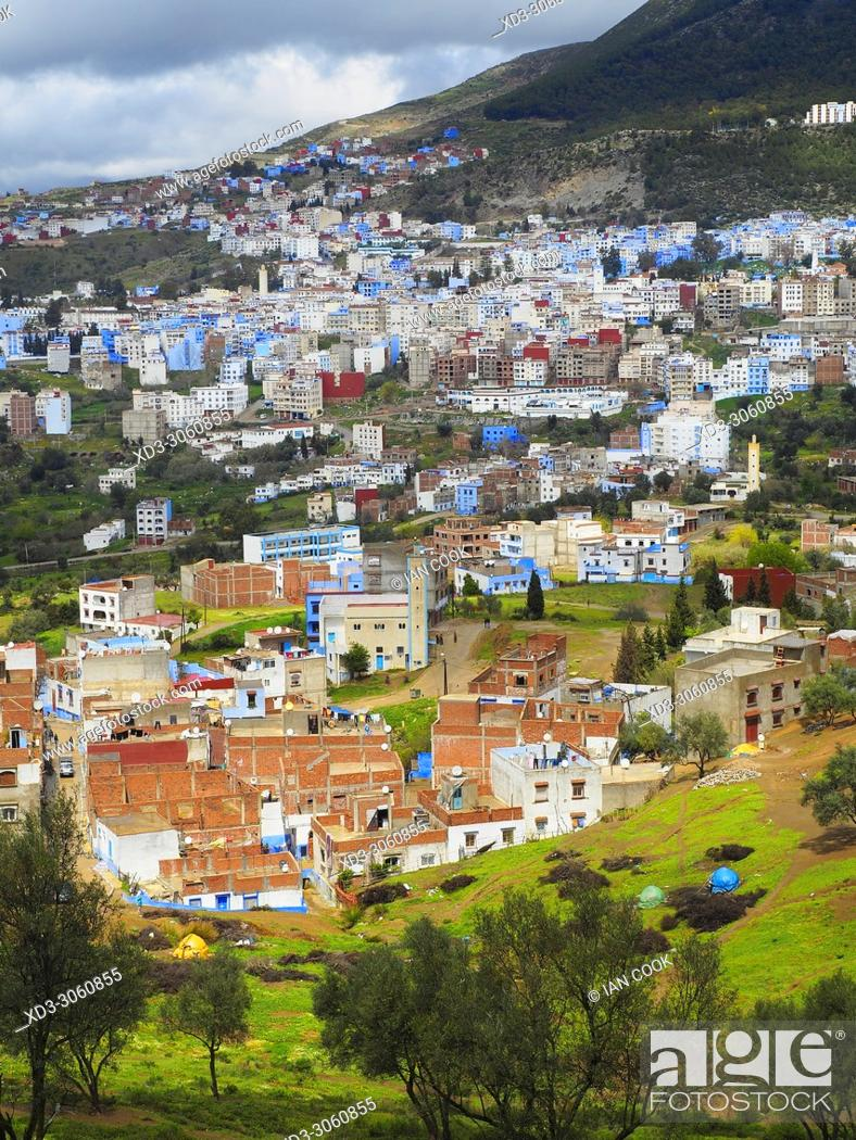 Stock Photo: overview of Chefchaouen, Morocco.