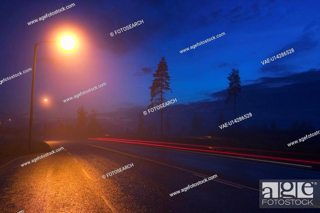 Stock Photo: Blue Sky, Highways, Lights, Narrow.