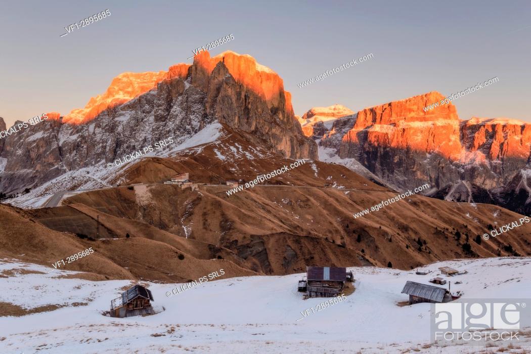 Photo de stock: Passo Sella, Trento Province, Trentino - Alto Adige, Italy, Europe.