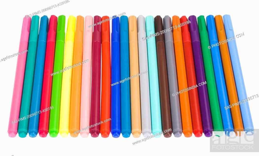 Stock Photo: Close-up of felt tip pens.