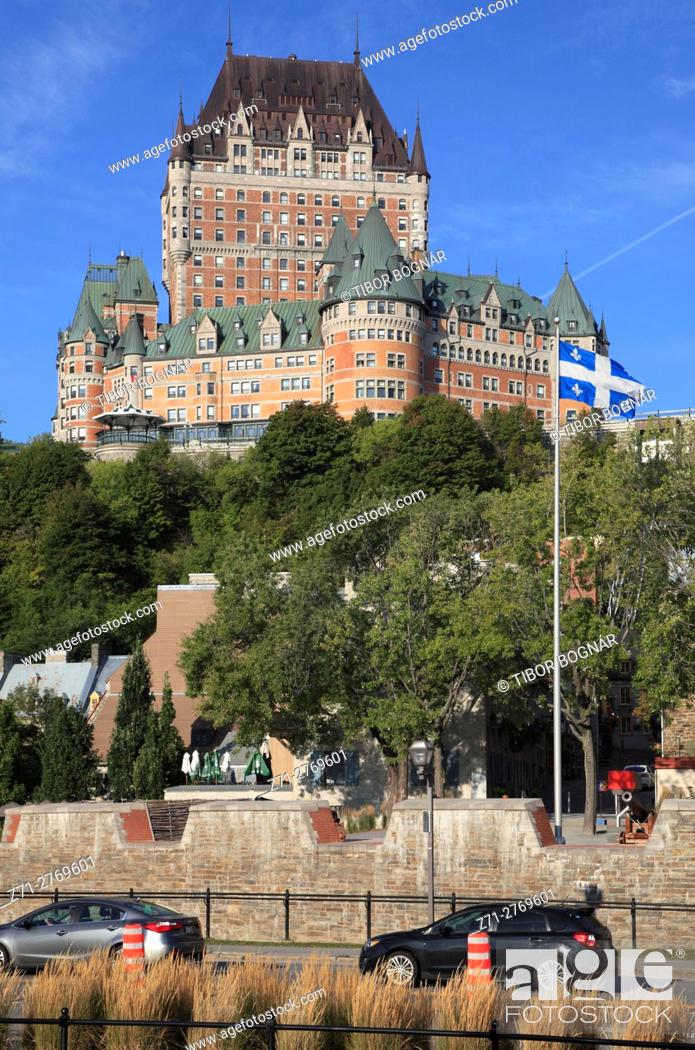 Imagen: Canada, Quebec City, lower town, Chateau Frontenac, skyline, .