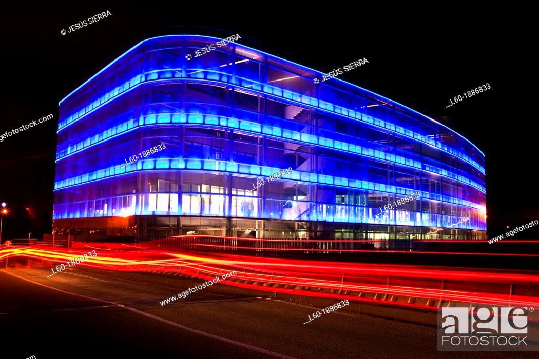 Stock Photo: Ebrosa building, Arquitecture in Madrid, Spain.