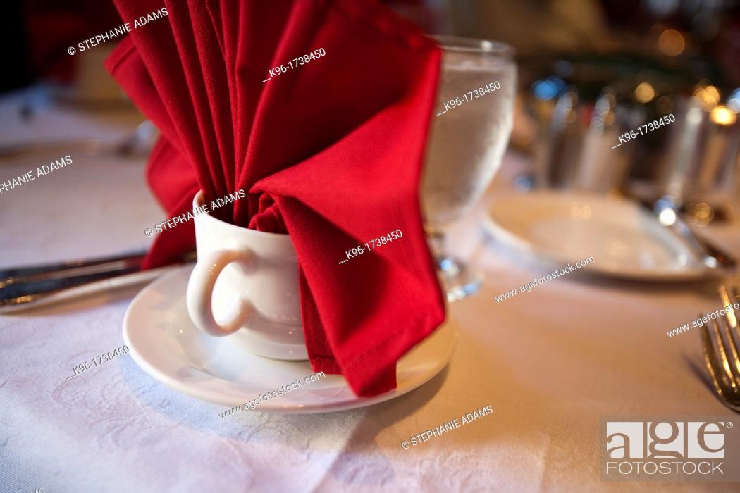 Stock Photo: formal table setting.
