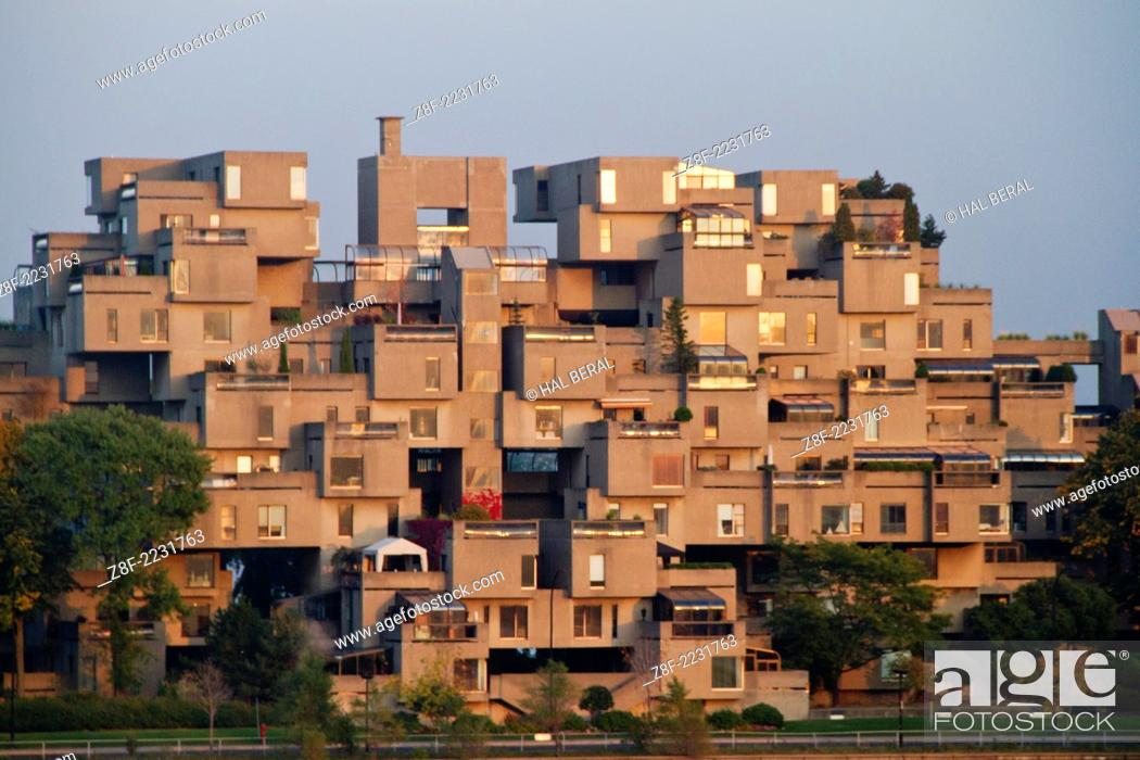 Stock Photo Habitat 67 Made From Prefabricated Concrete For The 1967 Worlds Fair Desigend By