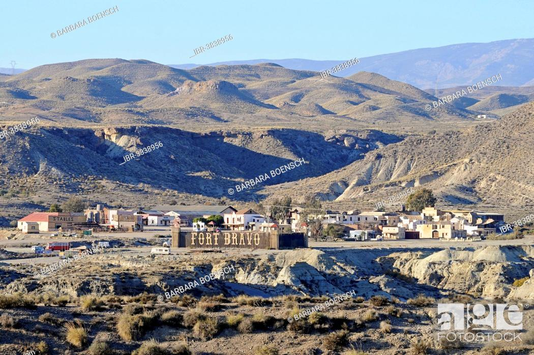 Stock Photo: Fort Bravo, Texas Hollywood, western town, Tabernas, Almeria province, Andalusia, Spain.