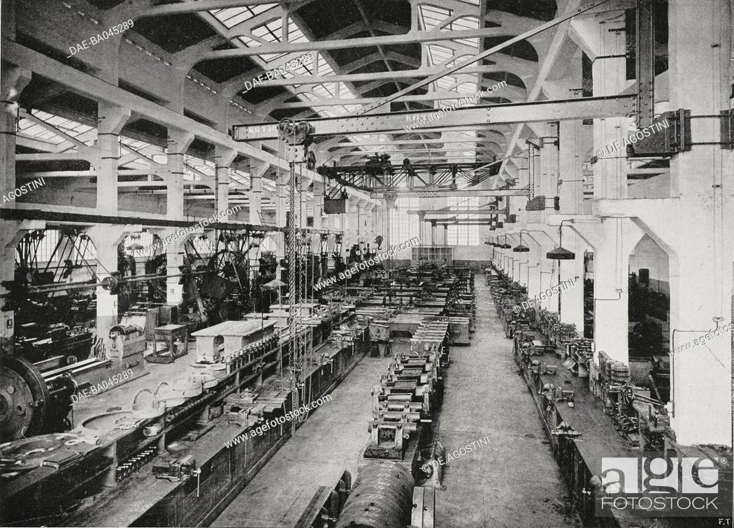 Assembly Hall, Cerpelli factory, manufacturer of centrifugal pumps
