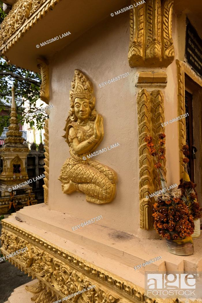 Stock Photo: Vientiane, Laos. November 22 2016, Vat Sisaket, temple with a lot of buddha statues inside.