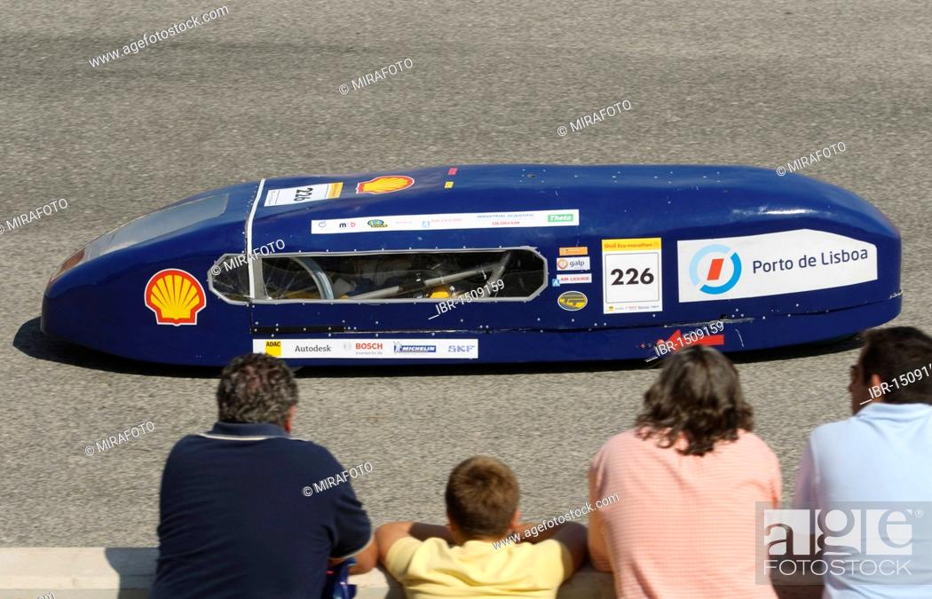 Stock Photo: Electric car on the race track at Cartagena, Murcia, Spain, Europe.