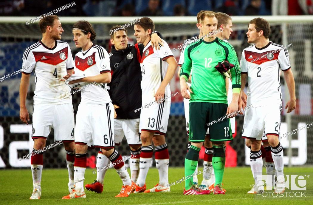 Germany's players after the international friendly soccer match
