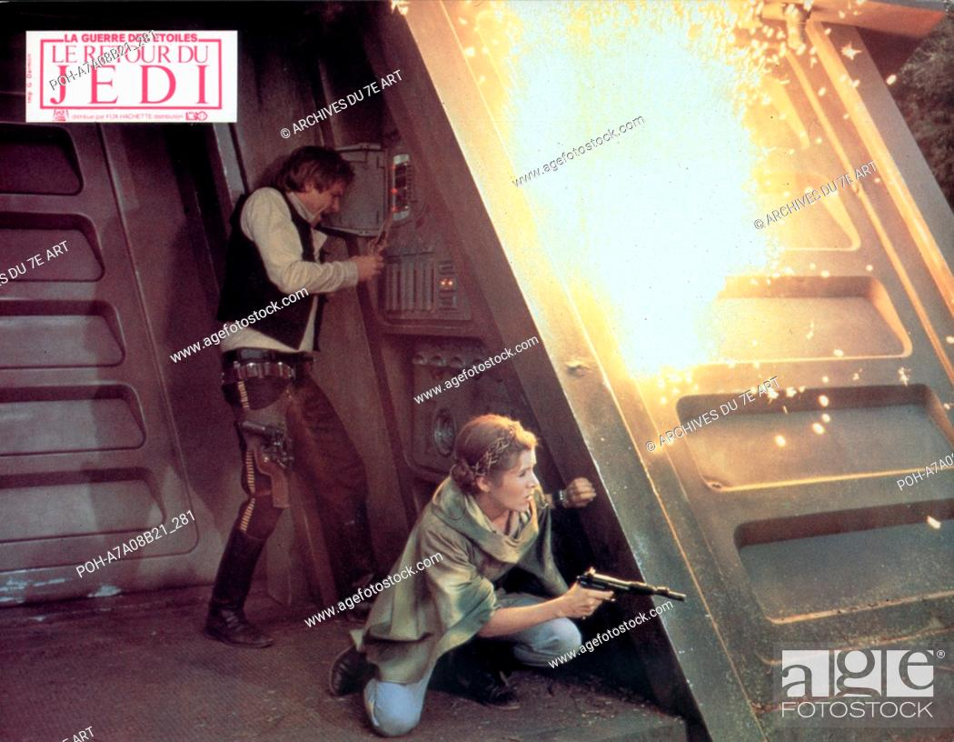Stock Photo: Star Wars: Episode VI - Return of the Jedi  Year: 1983 USA Harrison Ford, Carrie Fisher  Director: Richard Marquand. It is forbidden to reproduce the photograph.