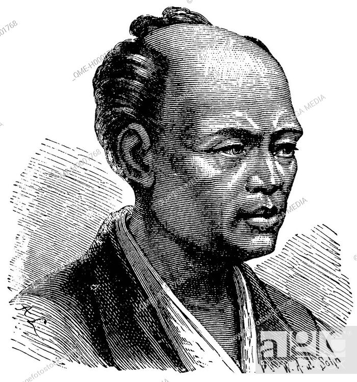 Stock Photo: Portrait of a Japanese, man from Japan.