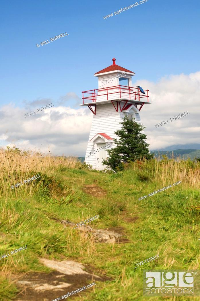 Stock Photo: Path to Woody Point Lighthouse, Woody Point Newfouondland Canada.