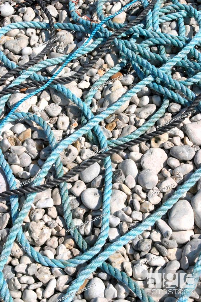 Stock Photo: ropes, braided, detail, background, rope, leash.