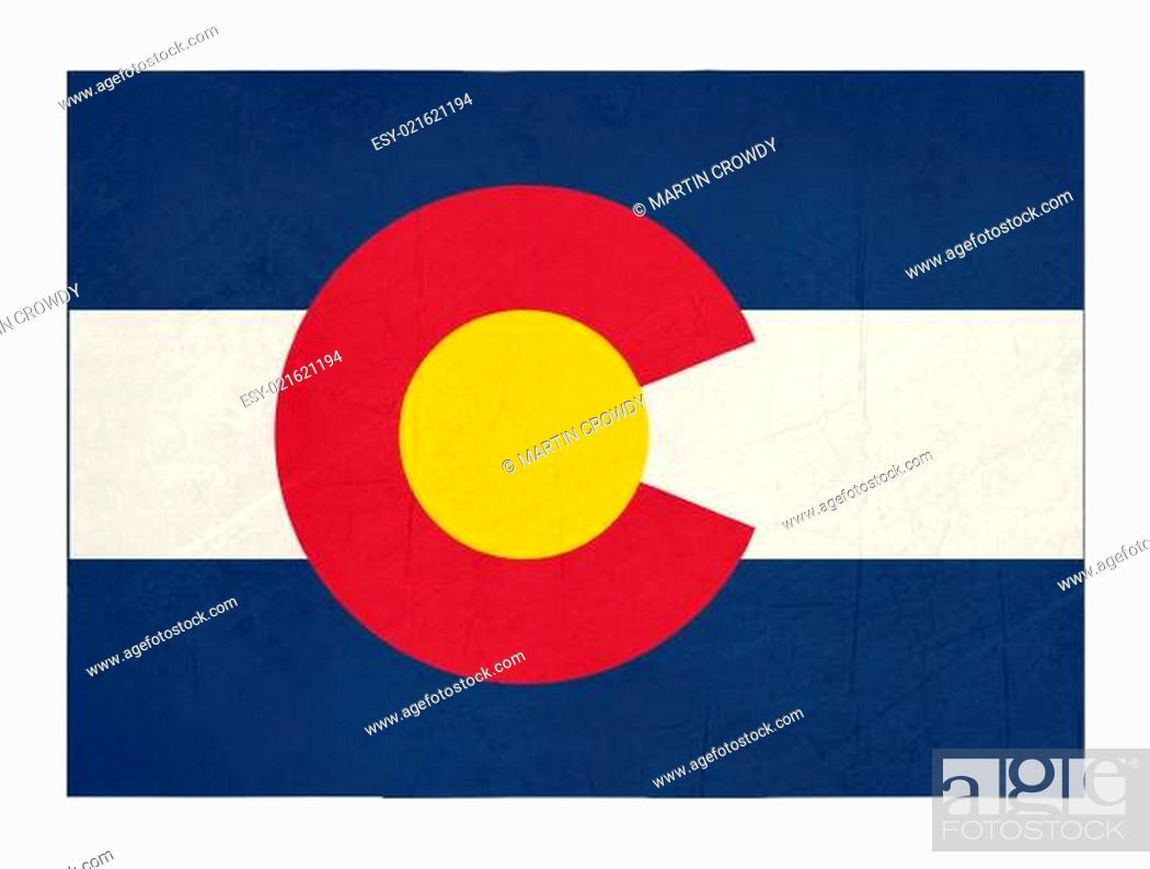 Imagen: Grunge state of Colorado flag map.
