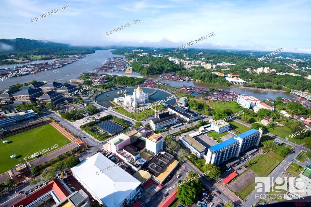 Aerial view of Bandar Seri Begawan, the capital of Brunei