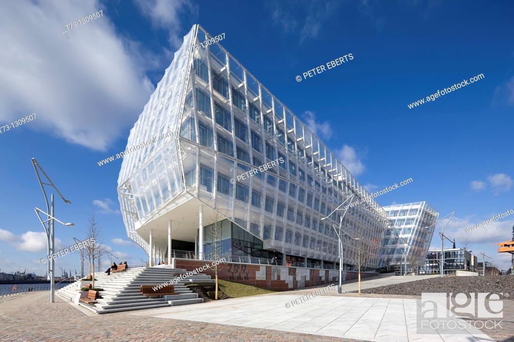 Stock Photo: Unilever Building (architect: Behnisch Architekten), Hamburg, Germany.