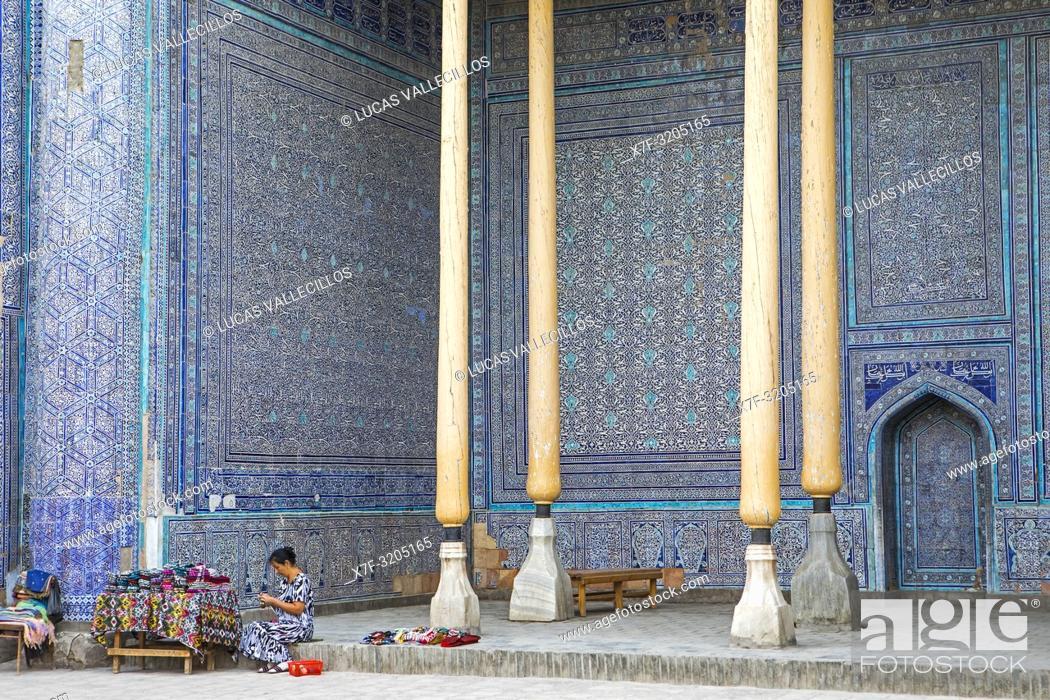 Stock Photo: Summer Mosque, inside Kuhna Ark, Khiva, Uzbekistan.