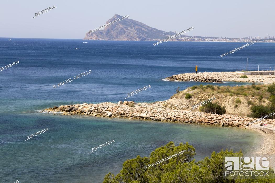 Stock Photo: Beach in Altea Alicante rivince Spain.
