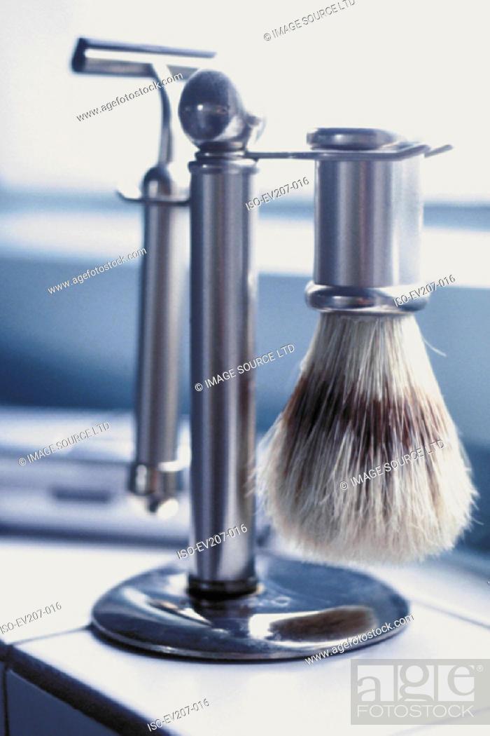 Stock Photo: Shaving utensils.